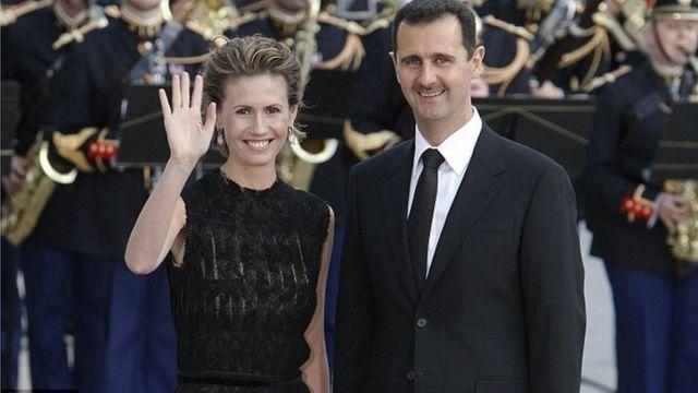 Asma y Bashar al Asad