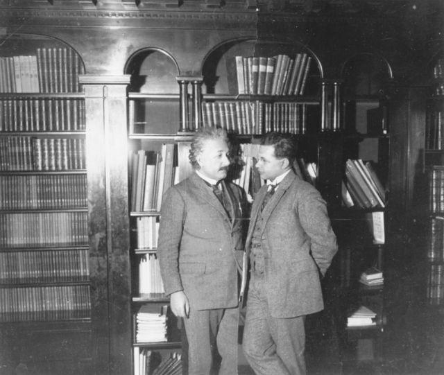 Einstein e Hans Albert em 1927