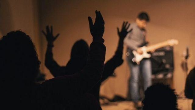 Culto em igreja evangélica