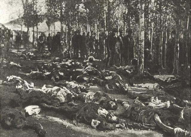 Se estima que entre 200.000 y 300.000 personas perecieron en una serie de matanzas y asesinatos colectivos que sufrieron los armenios del Imperio otomano entre 1894 y 1896.