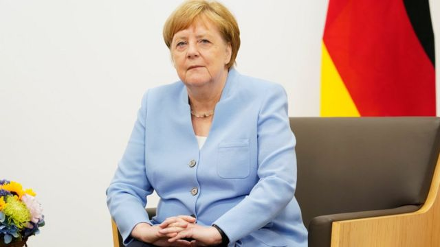 A chanceler alemã Angela Merkel durante o G20, em Osaka, no Japão