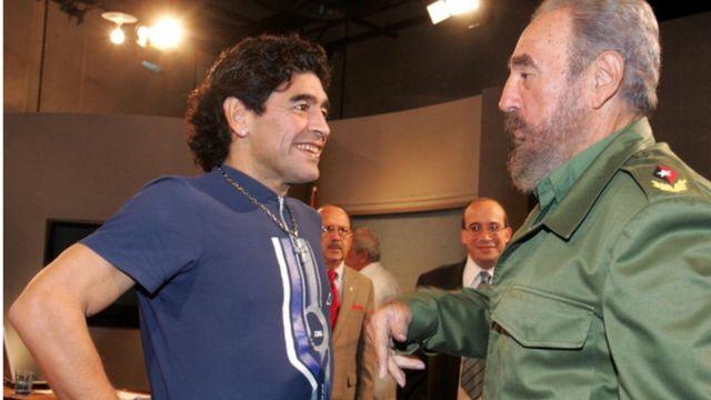 Maradona et Castro