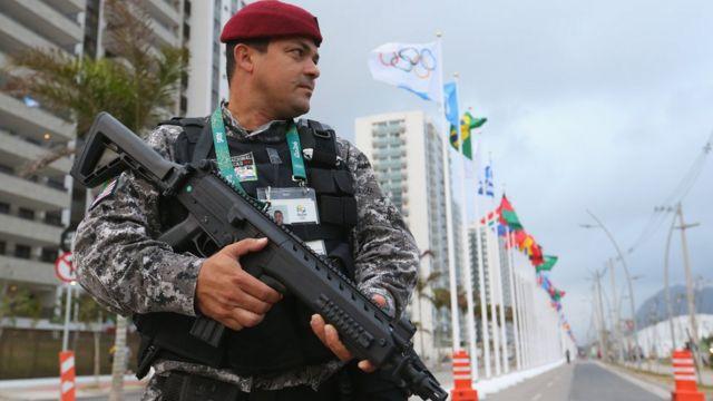 La presencia policial en Río de Janeiro aumentó considerablemente en las calles y cerca de los estadios.