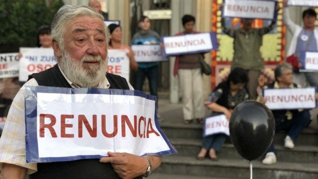 Protesta contra el obispo barros en Osorno. Foto: Francisco Jiménez de la Fuente