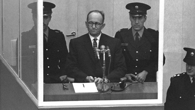 Adolf Eichmann at his trial in Jerusalem