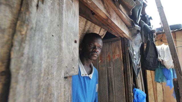 Un réfugié ivoirien.