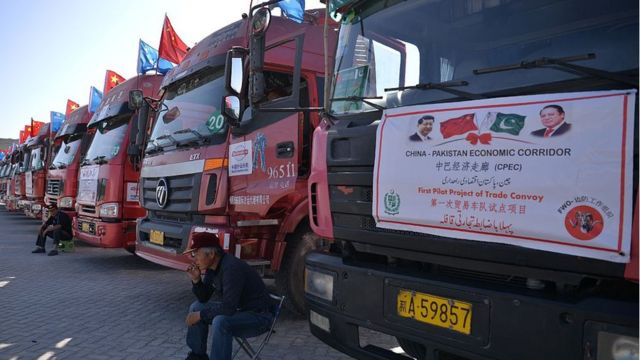 Çin Pakistan Ekonomik Koridoru'ndaki ilk konvoy (13 Kasım 2016)