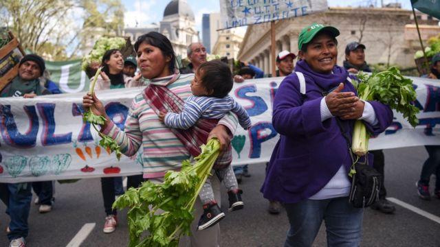 Productores marchan en Buenos Aires