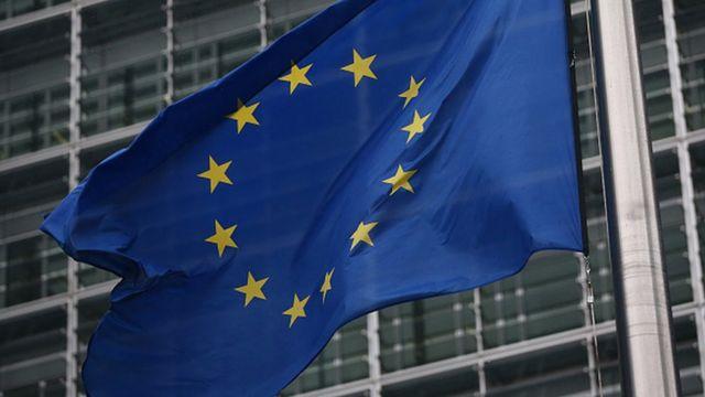 Le drapeau de l'Ue à Bruxelles.