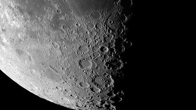 Polo sur de la luna.