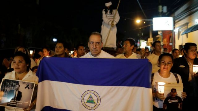 Protesta de Semana Santa en Nicaragua