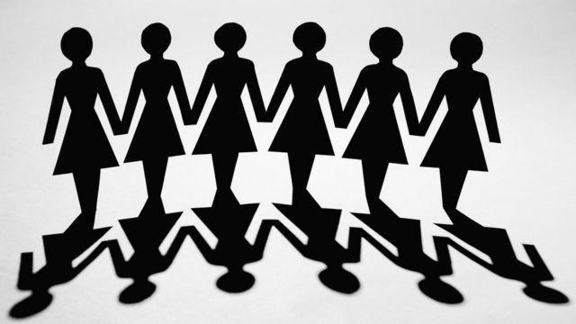 Desenho com sombras de mulheres
