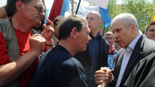 Boris Tadić i sindikati 2003.