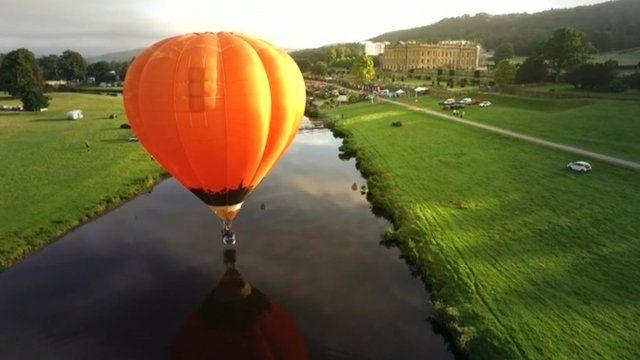 Hot air balloon at Chatsworth