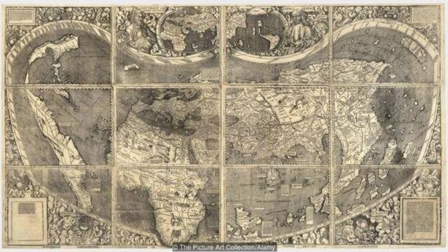 वॉल्डसीमुलर का नक्शा