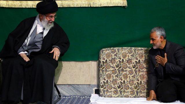 Khamenei greets soleimani, 2015