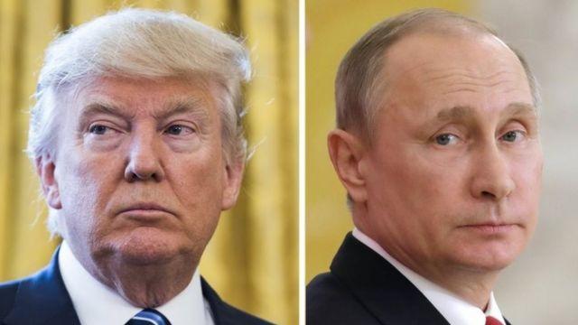 Imagen compuesta de Donald Trump y Vladimir Putin