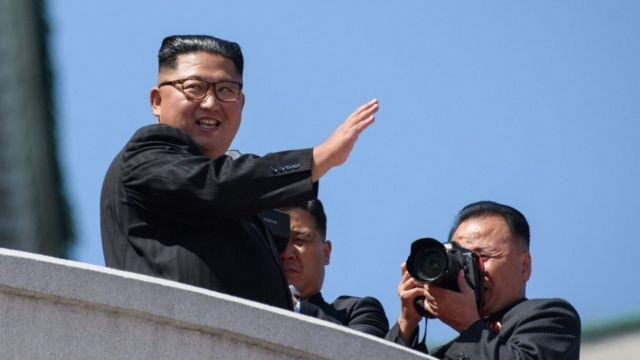Mr Kim at the parade