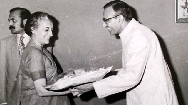 इंदिरा गांधी के साथ बंसी लाल