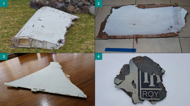 Photo composite of MH370-linked debris