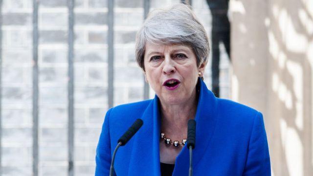 Theresa May prononçant son dernier discours devant le Parlement