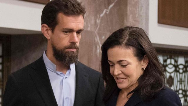 Jack Dorsey and Sheryl Sandberg