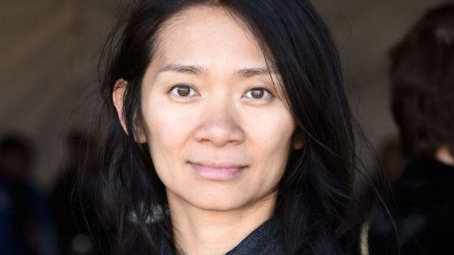 Chloe Zhao. Globos de Oro 2021.