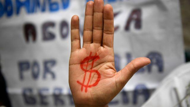 Протест санитарок в Каракасе