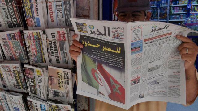 صحيفة ويتصدرها عنوان رئيسي عن القطيعة بين الجزائر والمغرب
