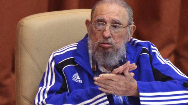 Cuba's former president Fidel Castro attends the closing ceremony of the seventh Cuban Communist Party (PCC) congress in Havana, Cuba, 19 April 2016.