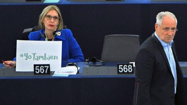 Una europarlamentaria se une a la campaña #yotambién