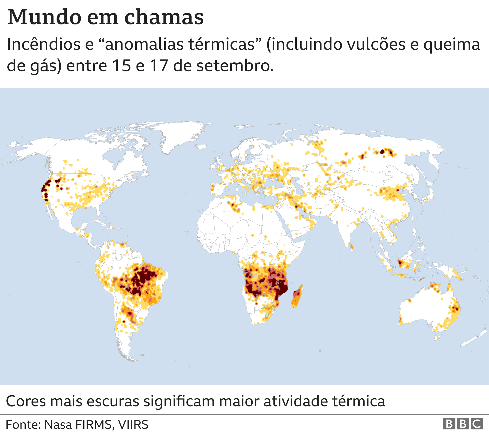 Incêndios pelo mundo