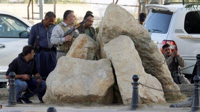 Abarwanyi b'Abakurde bafatanije n'igisirikare ca Irake mu kurwanya Islamic State