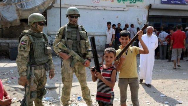 نیروهای روسیه در میدان های زمینی نبرد در سوریه حضور دارند