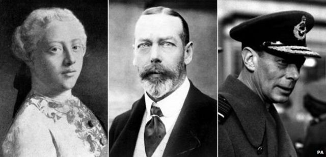 George III, George V and George VI