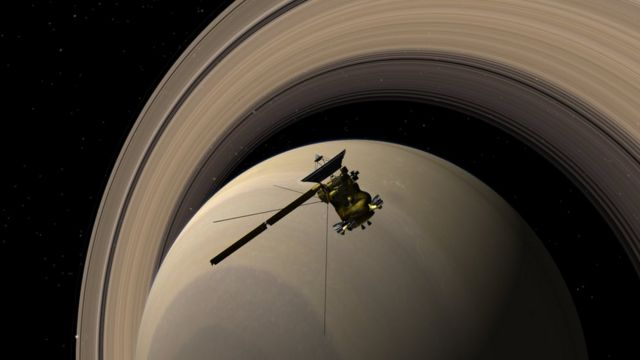 NASA Cassini halkalar