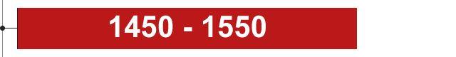 1450 - 1550