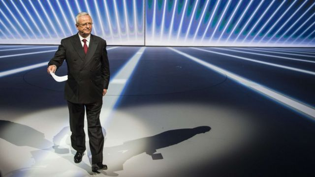 Martin Winterkorn, former Volkswagen chief executive at the Frankfurt Motor Show