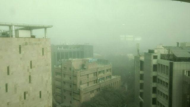 Foto de Noida, un suburbio de Delhi (Foto: cortesía @MaanviNarcisa)