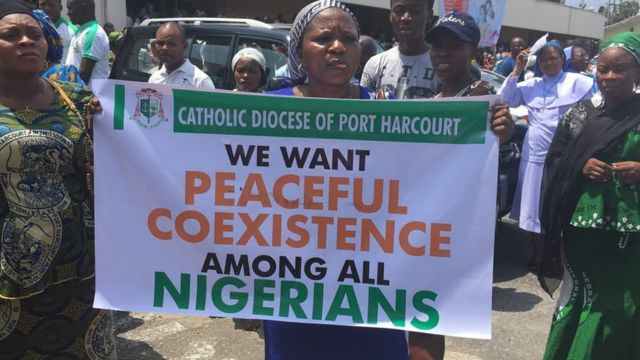 Catholic for Rivers State waka through Port Harcourt -Aba expressway, Azikiwe road and end di waka for St. Mary Catholic Church inside old PH Township