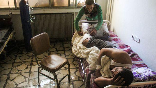 قربانی حمله مظنون شیمیایی در خان شیخون