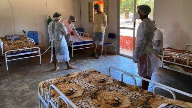 Uma pequena clínica foi criada para atender os infectados