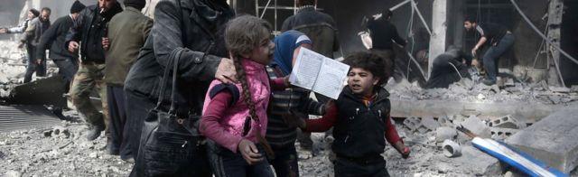 Children in Eastern Ghouta, Syria