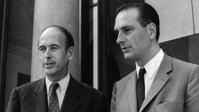 ژاک شیراک و ژیسکار دستن که در سال ۱۹۶۹ متحد سیاسی بود بعدا رقیب هم شدند