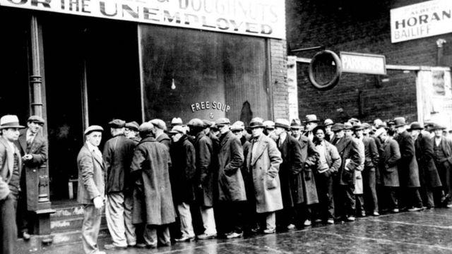 Desempleados durante la crisis de 1929.