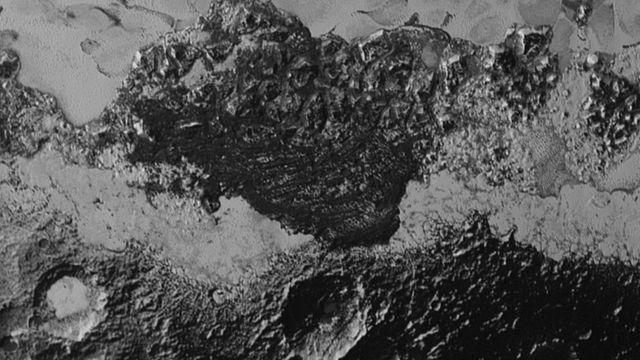 Superficie de Plutón.