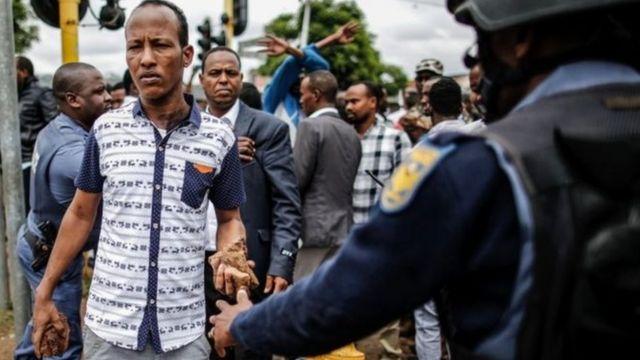 احتجاجات جنوب أفريقيا