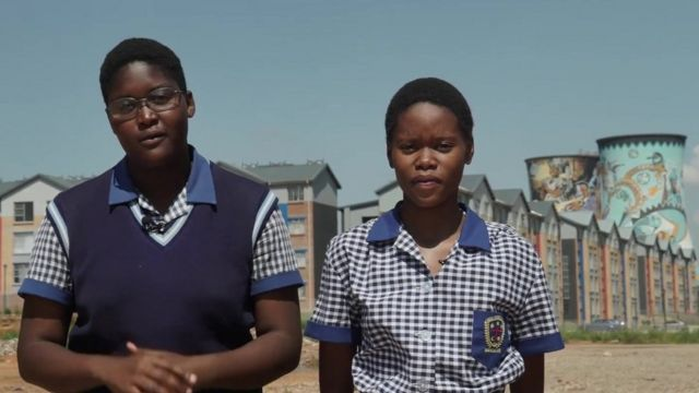 School Reporters from Immaculata Secondary School in Soweto, South Africa