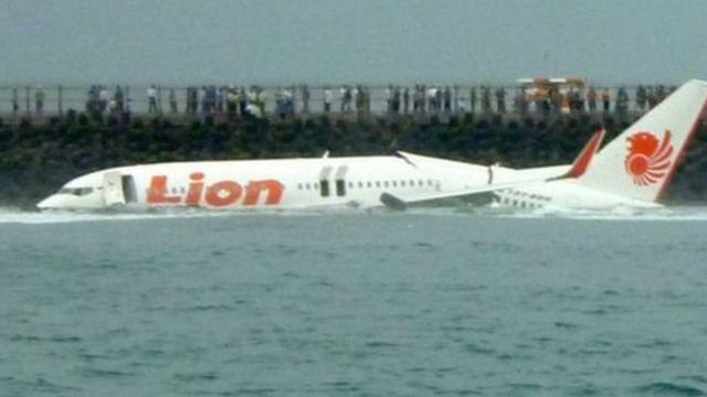"""في عام 2013، سقطت طائرة """"ليون إير"""" رحلة رقم 904 في البحر في بالي ونجا جميع ركابها"""