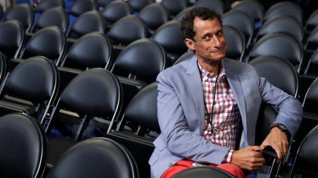 Weiner durante la Convención Nacional Demócrata, a fines de julio.